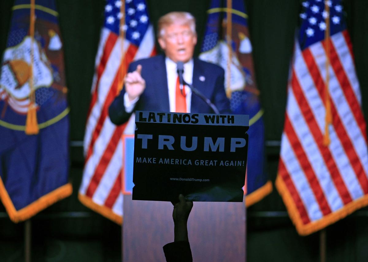 ... with trump as republican presidential candidate donald trump speaks