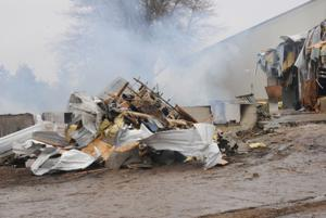 Fire destroys Branstad Farms' office building