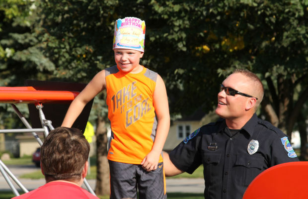 License to behave: Cop/Dragster drives home lesson for students
