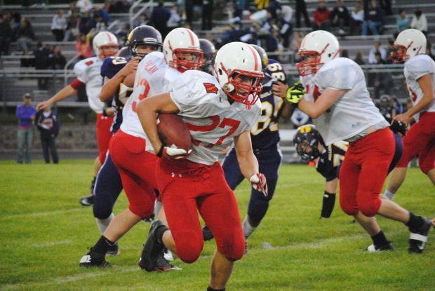 Lake mills the west hancock football team defeated lake mills 40 28