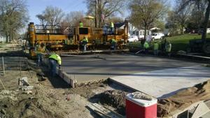 Paving underway on Clear Lake street project