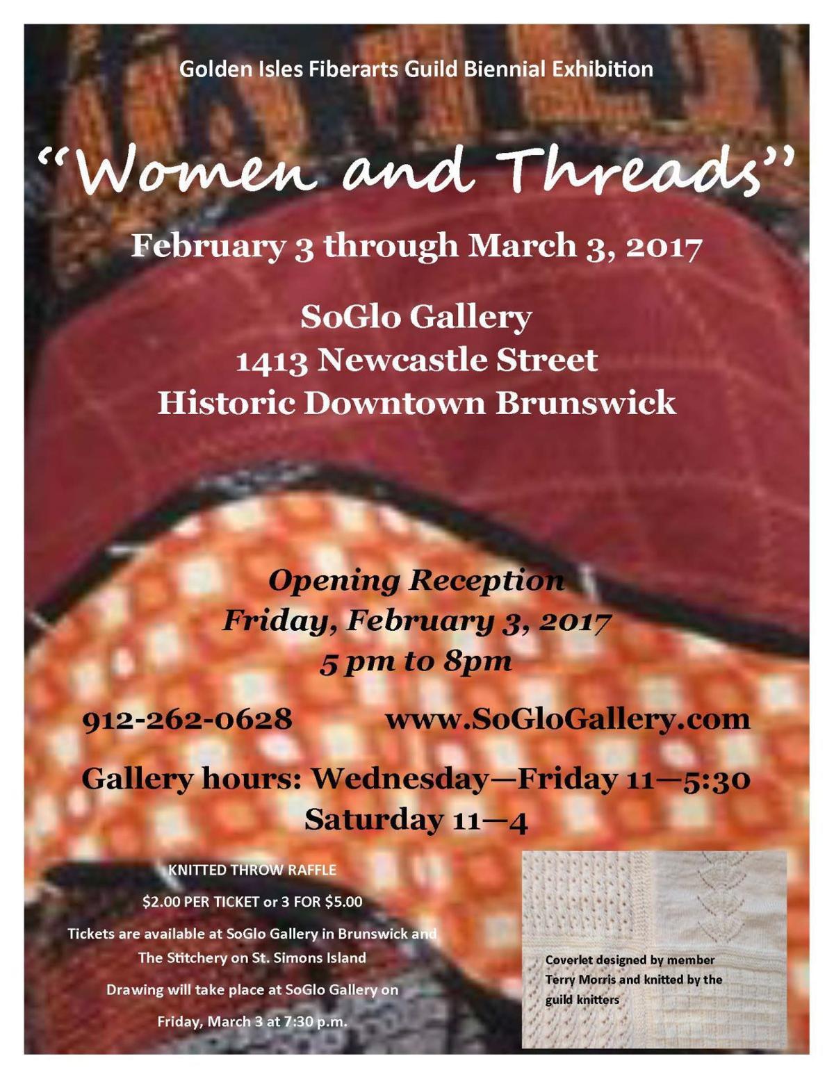 """Women and Threads"" Fiber Arts Guild show"