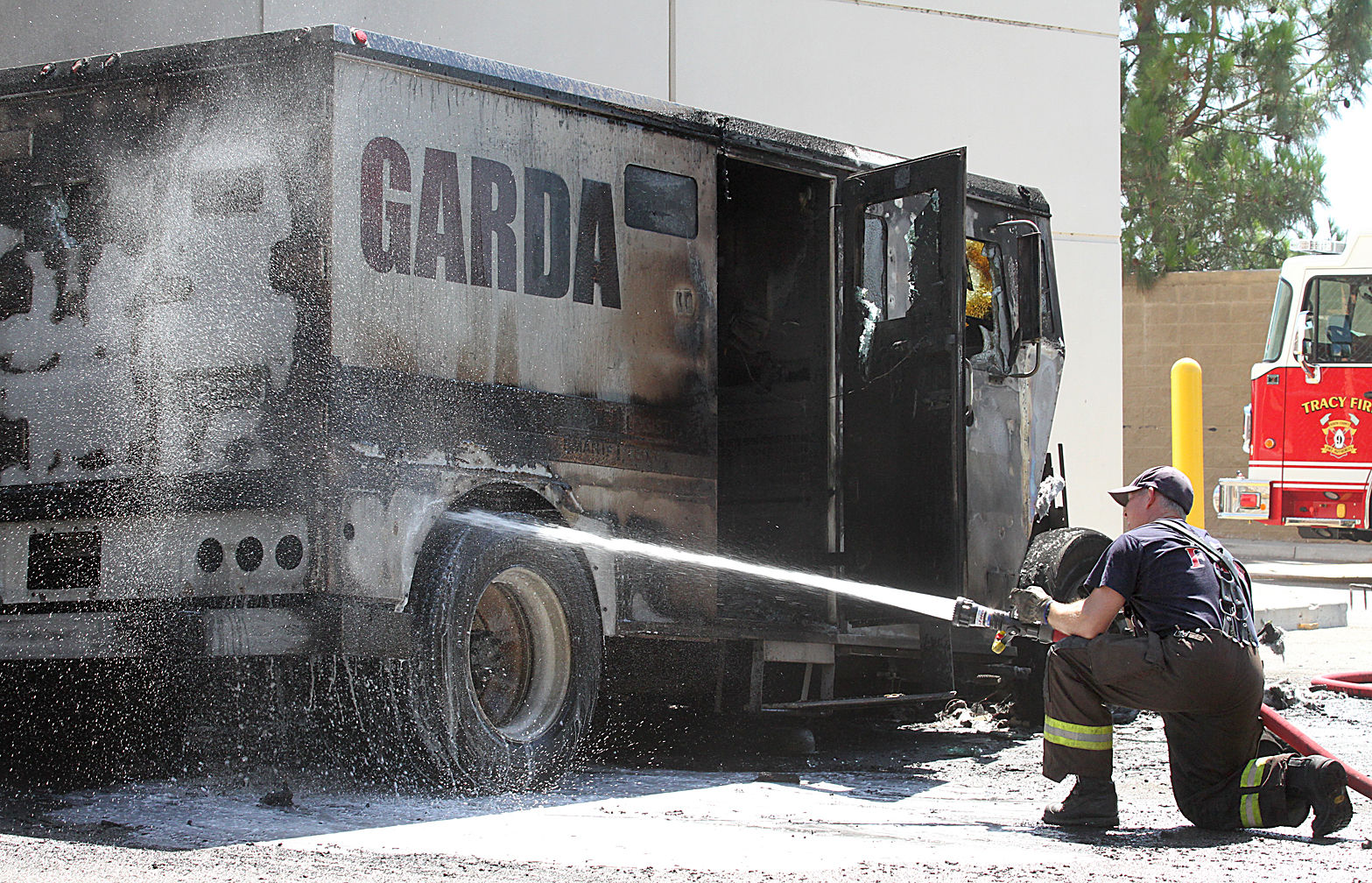 Armored car burns up near Home Depot - Golden State Newspapers ...