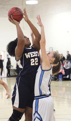 girls basketball west claims consolation trophy at