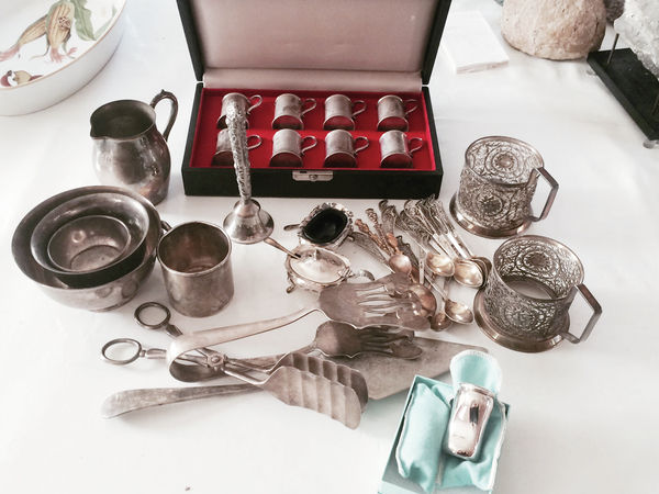 <p>Items from a silver collection in Genine Babakian's childhood home in Larchmont, N.Y. For adult children trying to cope with dismantling and selling the first place they called home, the most challenging aspect is the thought of letting go. (Genine Babakian via AP)</p>