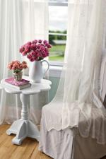 <p>Window treatments, such as these Divine Sheer curtains, should be cleaned once or twice a year and the best method varies by material. (AP Photo/Country Curtains)</p>