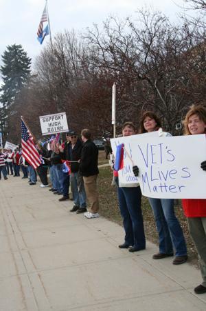 Veterans rally for Hugh