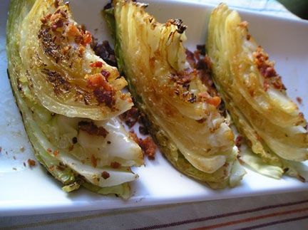 submitted make a wedge salad a meal by roasting big wedges of cabbage ...