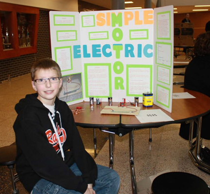 All kinds of projects at the rjems science fair featured for Simple electric motor science project