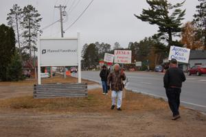 Local protestors