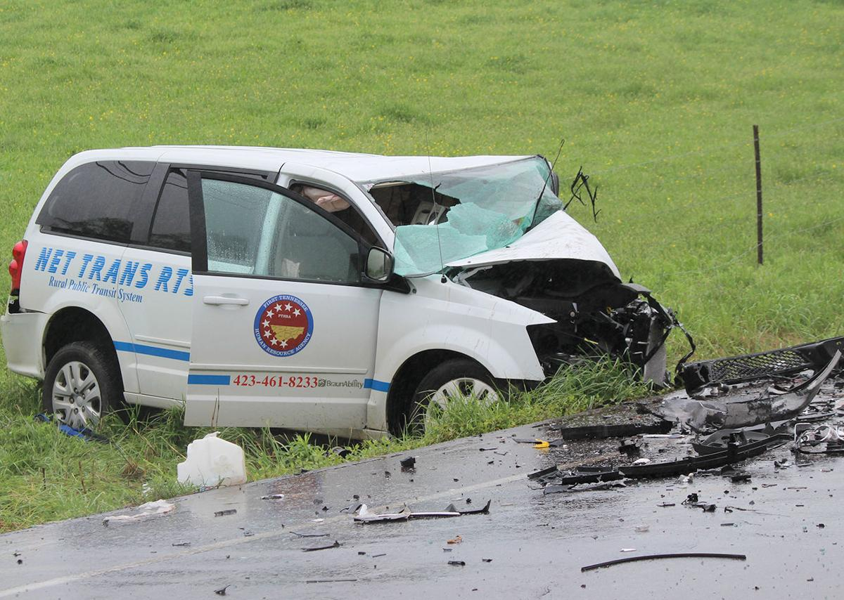wreck kills one injures two on snapps ferry road local news net trans van involved in wreck