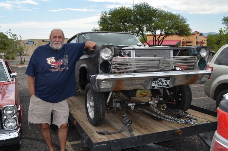 Of green valley hauls around his 65 comet gasser on a trailer