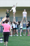 Kingsburg cheer prepares for fall games