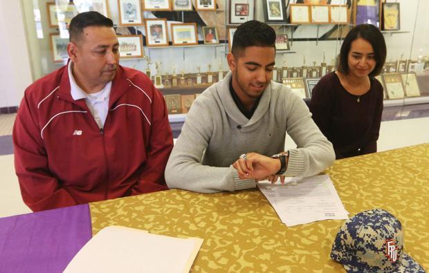 Lemoore's Murrieta signs baseball letter of intent