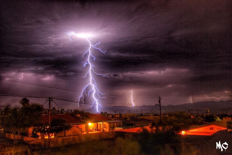 july 1 monsoon storm over havasu