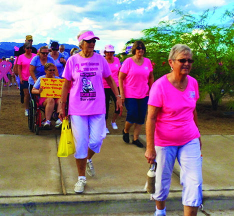 Breast cancer walk in chicago on october 17