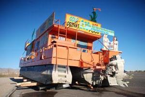 Big Orange Boat's trailer collapses during move