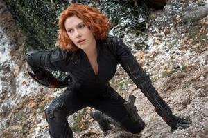 """<p>This photo provided by Disney/Marvel shows, Scarlett Johansson as Black Widow/Natasha Romanoff, in the film, """"Avengers: Age Of Ultron."""" The movie releases in the U.S. on May 1, 2015. (Jay Maidment/Disney/Marvel via AP)</p>"""