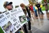 Wolf hunt opponents hold rally
