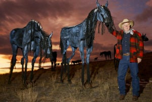 Thieves rustle 3 steel horses from Montana hill