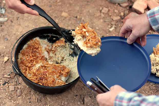 Dutch oven cooking around the campfire food cooking for How to cook in a dutch oven over a campfire