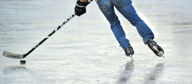 hockey players dressed in jeans and casual wear