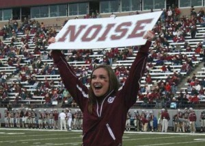 HHS alum Kelsey Poore cheering for UM Grizzlies