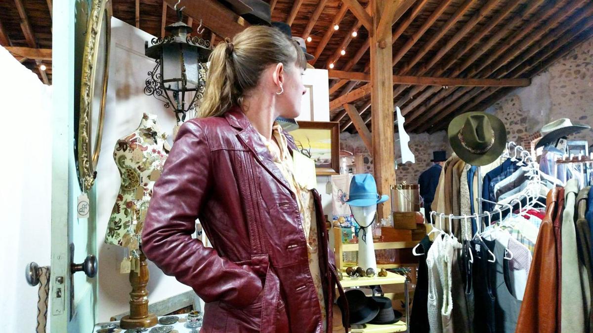 Jessica models a vintage jacket
