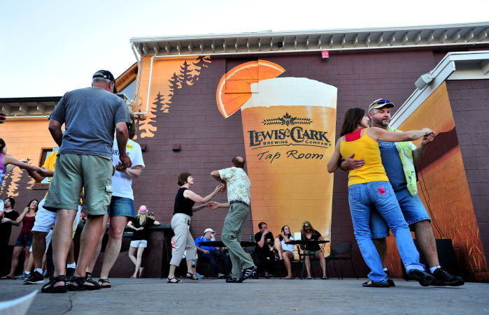 Lewis and clark brewery opens new mural adorned for Clarks mural fresco boots