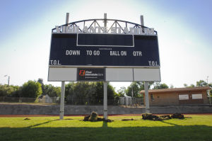 New LED scoreboard goes up at Vigilante Stadium