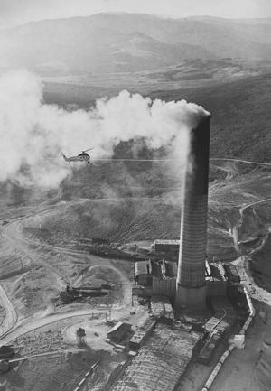 Stack Smoke plume 1976