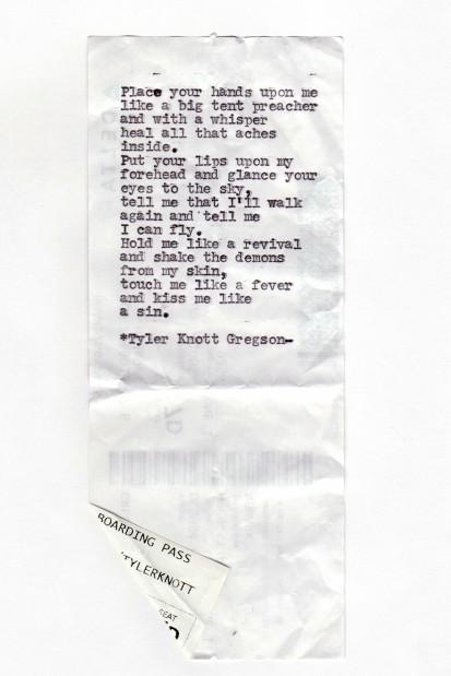 Tyler Knott Gregson poems     helenair.com