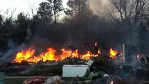 Raw: Eastern Oklahoma Wildfire 99% Contained