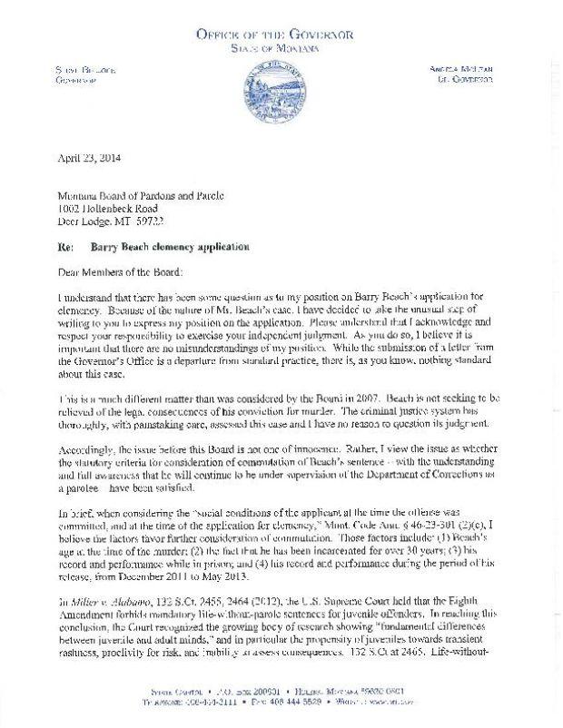 parole board letters. in its written decision the parole board ...