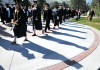 Members of the Class of 2012 assembled on the UM Oval