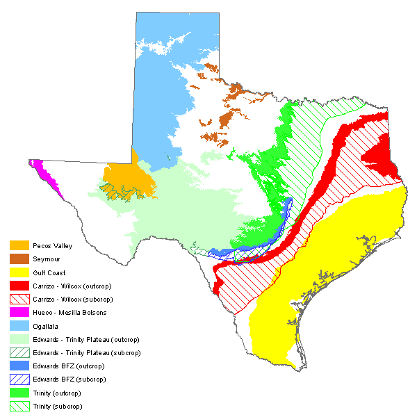 Acquifers of Texas