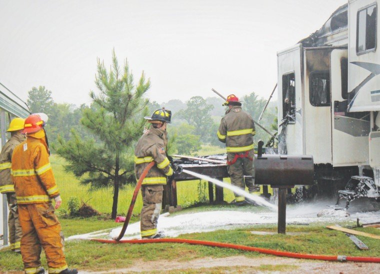 Hwy 64 structure fire