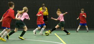 PHOTOS: Soccer players enjoy taste of spring with Futsal tournaments