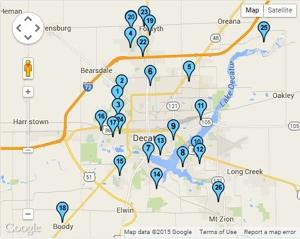 Map: Decatur area garage sales