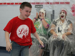PHOTOS: A-O School Pie Throwing Fundraiser Reward