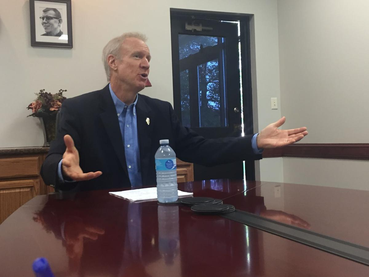 Rauner manar trade blame at decatur area appearances government and politics herald review com