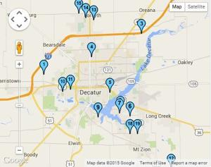 Map: Decatur area garage sales