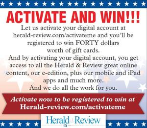Activate your account for a chance to win $40!