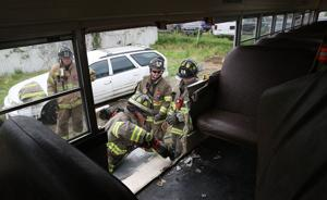 YMCA donates buses to further fire department training