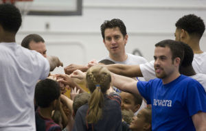 PHOTOS: MU Men's Basketball players share skills and drills with Little Blue