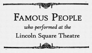 26 Famous people who performed at the Lincoln