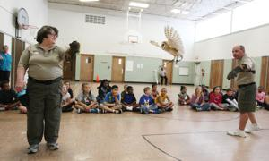 PHOTOS: Illinois Raptor Center Presentation at South Shores School
