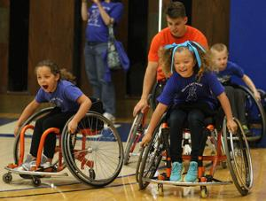 PHOTOS: U of I Wheelchair Basketball Exhibition for Dennis School