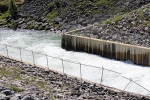 <p>Water is seen being released from Canyon Lake into the Guadalupe River at an estimated 1,000 cfs on Friday morning. That amount was estimated to be up to 2,500 cfs by Friday afternoon.</p>