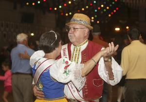 Dancing at Wurstfest